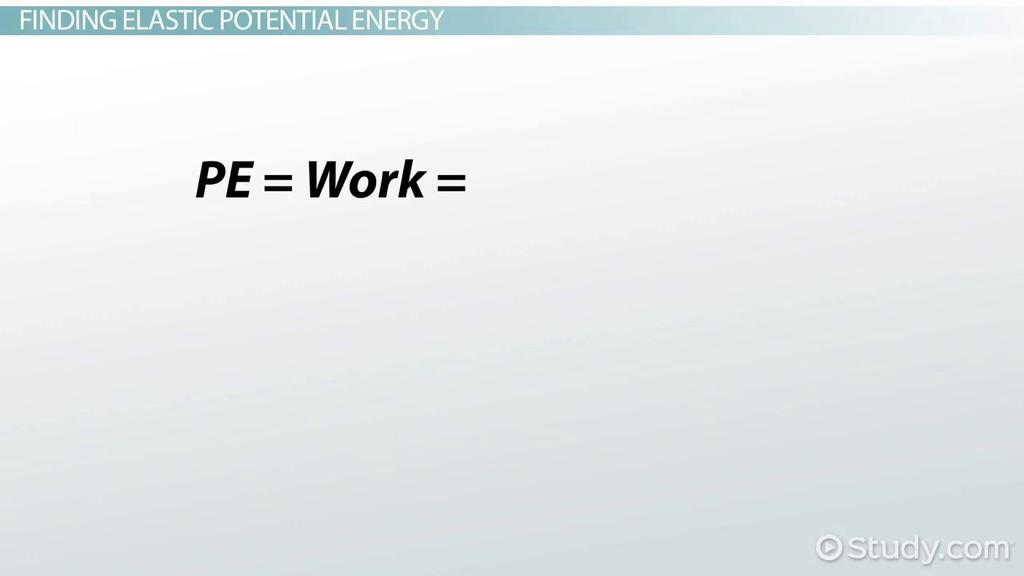 Elastic Potential Energy Definition Formula & Examples