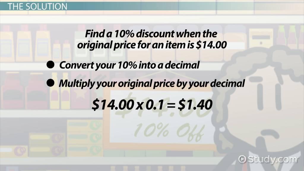Calculating a 10 Percent Discount Howto  Steps  Video  Lesson Transcript  Studycom