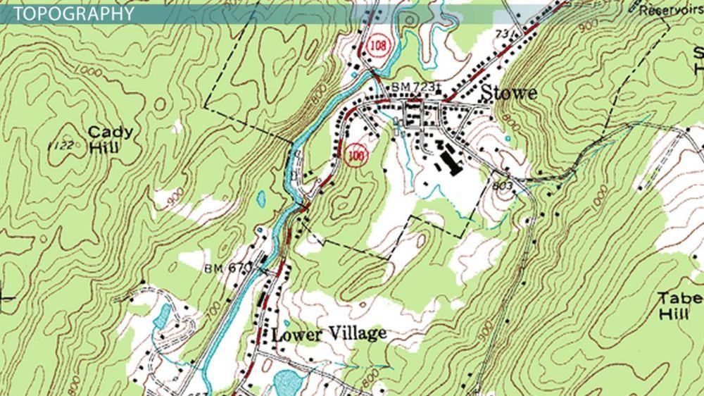 medium resolution of Using \u0026 Understanding Topographic Maps - Science Class (Video)   Study.com