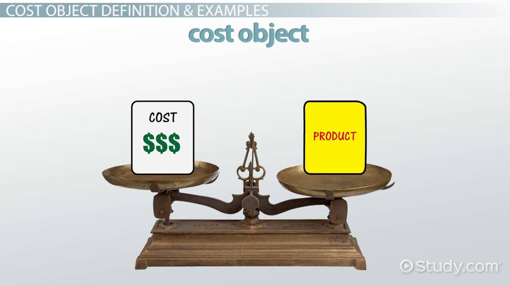 Cost Object Definition & Examples Video & Lesson
