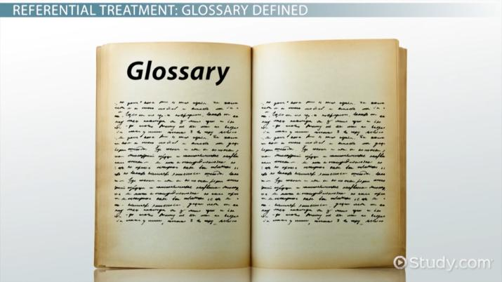 What Is A Glossary? Definition & Examples Video