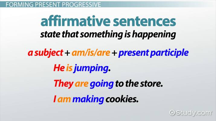 What Is Present Progressive Tense? Definition & Examples