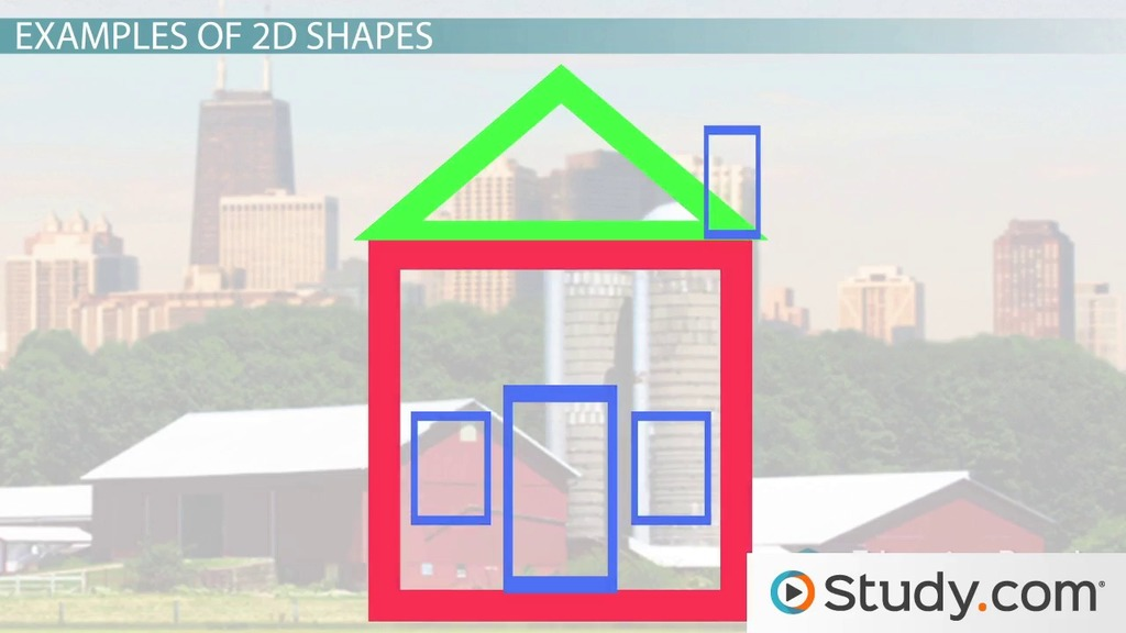 What Are 2D Shapes? Definition & Examples Video