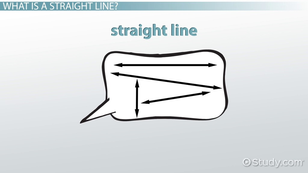 What Is A Straight Line? Definition & Examples Video