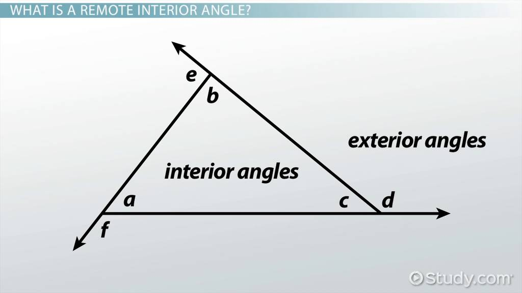Remote Interior Angles Definition  Examples  Video