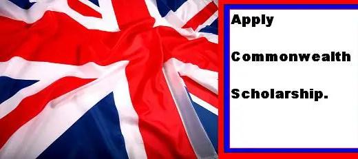 Apply Commonwealth Scholarship 2018