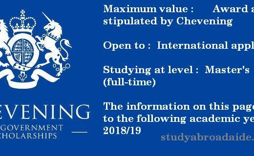 Chevening Scholarship UK
