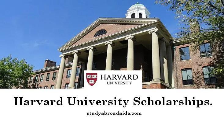 Harvard University Scholarships
