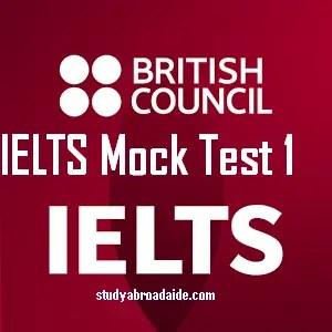 IELTS Mock Test 1