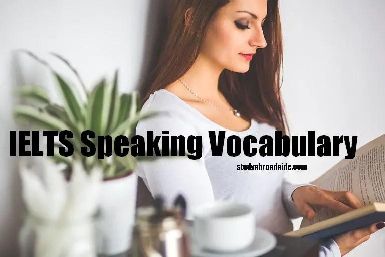 IELTS Speaking Vocabulary