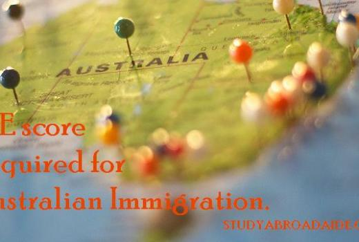 PTE score required for Australian immigration