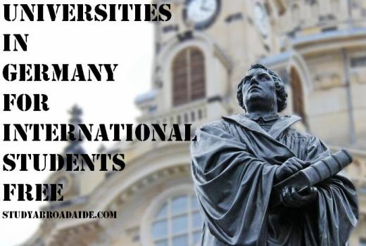 Universities in Germany for International Students free