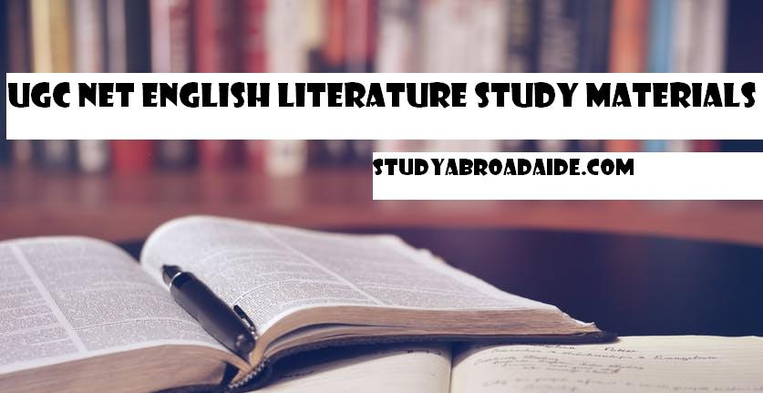 UGC NET English Literature Study Materials
