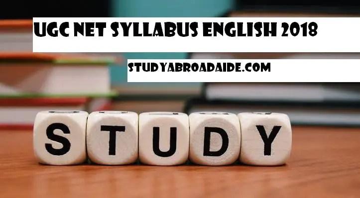 UGC NET Syllabus English 2018