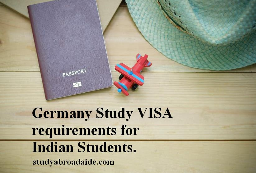 Germany Study VISA requirements for Indian Students