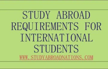 study abroad requirements for international students