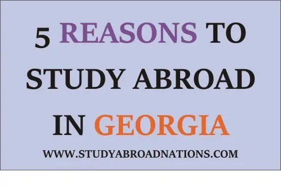 Reasons To Study In Georgia