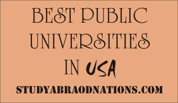 best public universities in USA