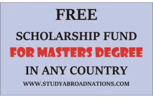 Masters Degree Scholarship Fund