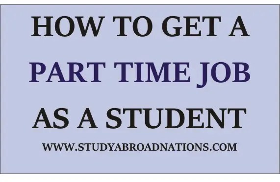 how to find a part time job in college