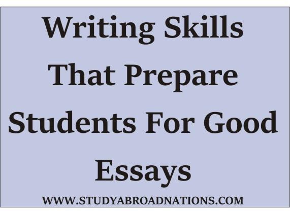 writing skills for good essay
