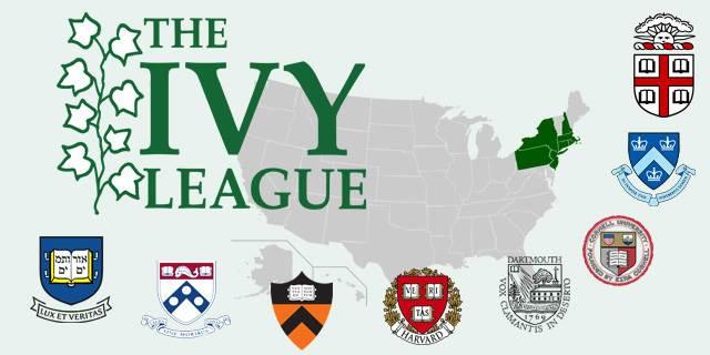 Ivy Leagueko ikastetxeen zerrenda