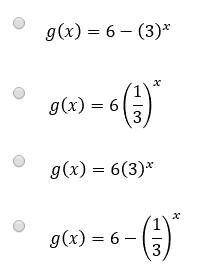 An exponential function is graphed on the grid. Which
