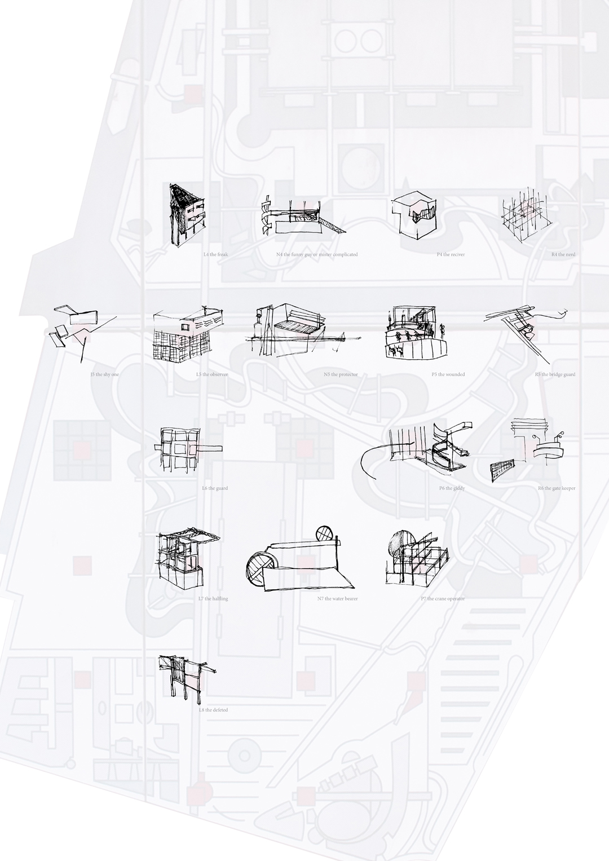 oma parc de la villette diagram wiring for caravan plug the paris drawings master thesis e 11 del 2 aaa studark