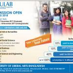ULAB Admission Spring 2018