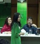 Actress Purnima and Actor Ferdous in Green University
