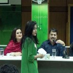 Actress Purnima and Actor Ferdous in Green University