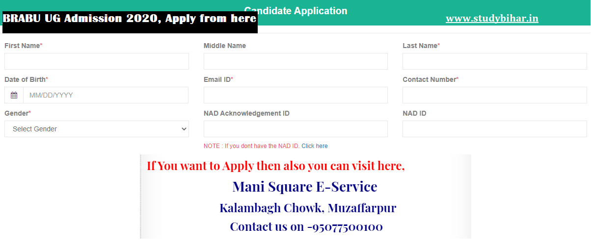 Apply for BRABU Part-1 Admission
