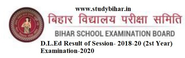 Download- D.L.Ed Result (2018-20) Second Year Exam-2020