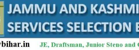 Apply - JE, Draftsman, Junior Steno and Others Posts in JKSSB, Last Date-24/03/2021.
