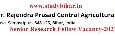 Apply for Senior Research Fellow Position, Walk Interview Date-27/02/2021.