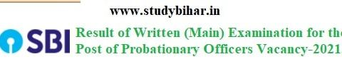 Download Result of SBI Exam (Mains)-2021 for Probationary Officer Post