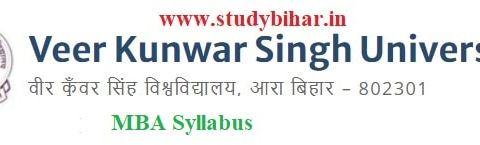Download the MBA Syllabusof Veer Kunwar Singh University, Ara-Bihar