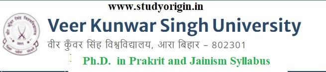 Download the Ph.D. in Prakrit and Jainism Syllabus of Veer Kunwar Singh University, Ara-Bihar