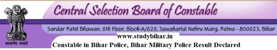 Download - Bihar Constable Police PET-2021 Result-2021