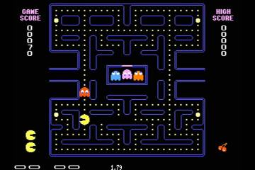 The beginning of a Pac Man game