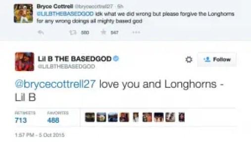 Lil' B Blesses Longhorns