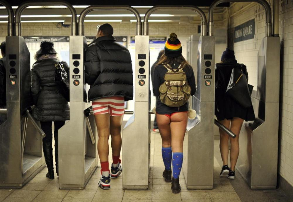 What I Learned Taking My Pants Off on the Subway