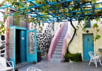 Caveland Hostel in Santorinii