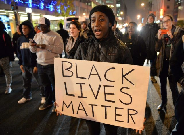 Black Lives Matter Protestor