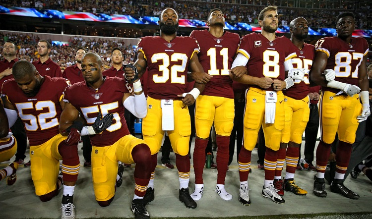 During the National Anthem, the NFL Says, No Kneeling Allowed