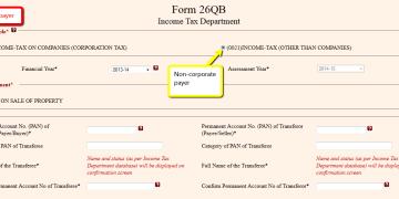 Correction Statement for form 26QB