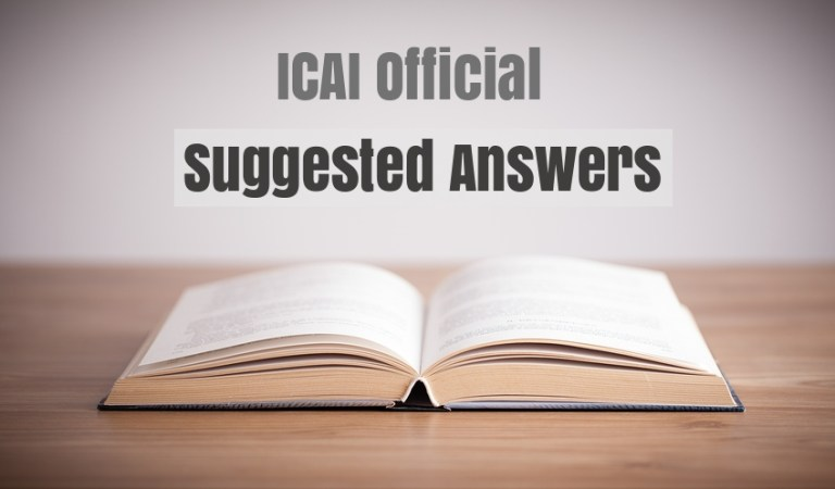 Download CA IPCC Suggested Answers Nov 2017 by ICAI