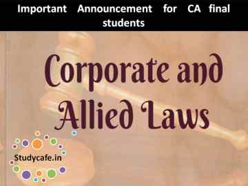 Important Announcement for CA final students