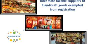 Inter state taxable suppliers of Handicraft goods exempted from registration