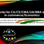 Job Vacancies for CA/CS/CMA/LLB/MBA/Masters in commerce/Economics